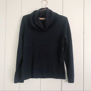 100% cashmere navy turtleneck sweater L